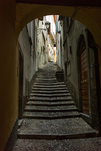 Steps in old town